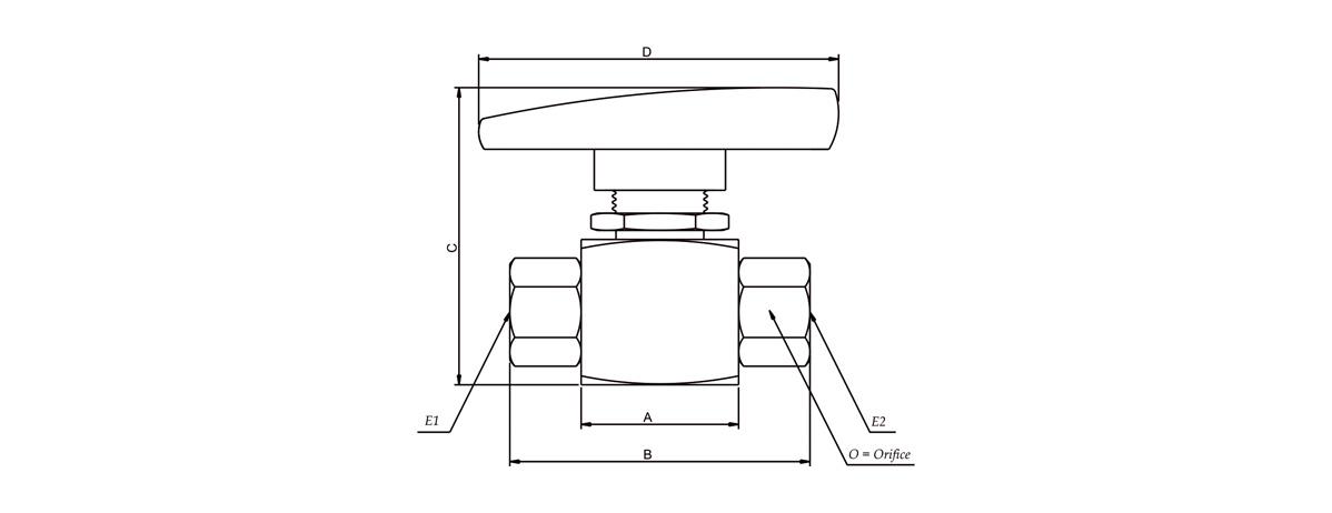 Medium-Pressure-Panel-Mounted-Ball-Valves-Dimensions